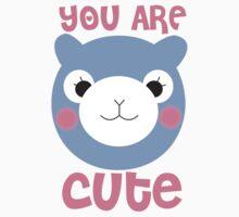 You Are Cute Arpakasso Pastel Face Kawaii Kids Tee