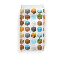 Mine Cubes Elements Isometric Duvet Cover