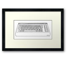 Commodore 64 C64 Design Reel to Real White Series Framed Print