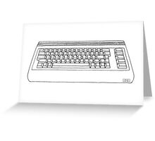 Commodore 64 C64 Design Reel to Real White Series Greeting Card