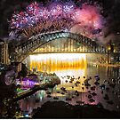 Sydney NYE Fireworks 2015 # 18 by Philip Johnson