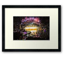 Sydney NYE Fireworks 2015 # 18 Framed Print