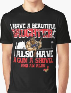 I Have A Beautiful Daughter - Black Distressed Variant Graphic T-Shirt