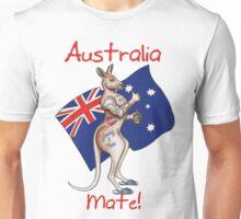 Australia Day Tattoo Kangaroo with Flag Design ! Unisex T-Shirt