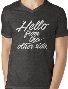 Hello from the other side - version 1 - white Mens V-Neck T-Shirt