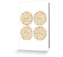 Round Ornament Floral Pattern from Mandalas Greeting Card