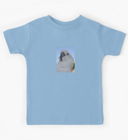 Ruffled Feathers Of A Blue Eyed Cockatoo Kids Tee