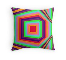 Around the corner, geometrical abstract colourful op art Throw Pillow