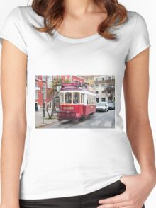 Electric Tram Lisbon Women's Fitted Scoop T-Shirt