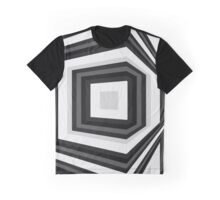 Around the corner, geometrical abstract monochrome op art Graphic T-Shirt