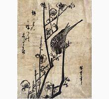 Bush Warbler On A Plum Branch - Hiroshige Ando - c1835 - woodcut Unisex T-Shirt