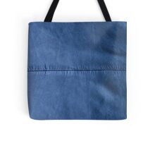 Indigo Denim Blue Leather Effect Texture Background Tote Bag