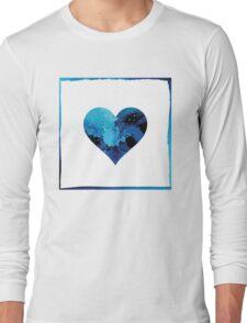 Blue winter heart Long Sleeve T-Shirt
