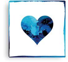 Blue winter heart Canvas Print