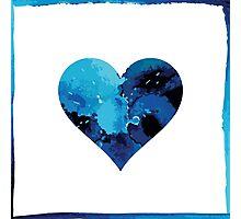 Blue winter heart Photographic Print