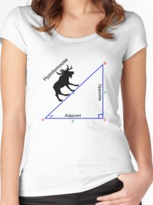 Hypotemoose, Math Humor. Women's Fitted Scoop T-Shirt