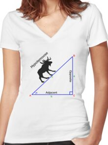 Hypotemoose, Math Humor. Women's Fitted V-Neck T-Shirt