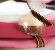 Pink napkin and candy table-setting for a wedding...  Sticker