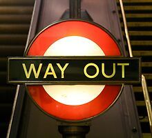 London Underground Way Out by lanesloo