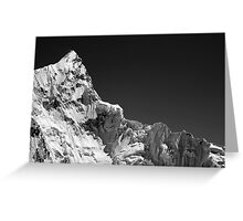 Kala Patthar Mountain, HIMALAYAS, Everest Nepal Greeting Card