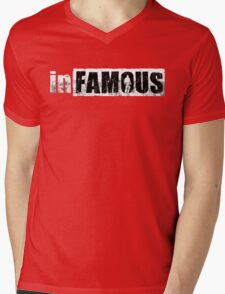 Infamous Game Mens V-Neck T-Shirt