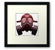 Toxicity Red Framed Print