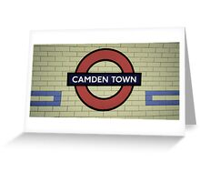 Camden Town Tube Station Greeting Card