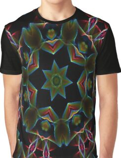 Teal Star Burst Graphic T-Shirt
