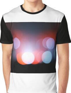 Circle Colour Lights Concert Blur Pattern Graphic T-Shirt