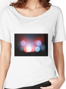 Circle Colour Lights Concert Blur Pattern Women's Relaxed Fit T-Shirt