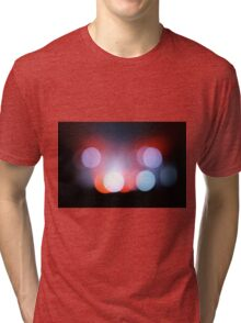Circle Colour Lights Concert Blur Pattern Tri-blend T-Shirt
