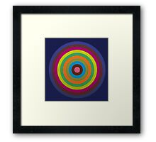 CIRCLE blue green yellow orange red violet  Framed Print