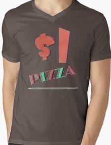 NYC Dollar Pizza Mens V-Neck T-Shirt