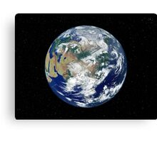 Fully lit Earth centered on Asia. Canvas Print