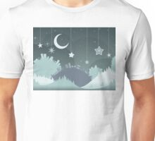 Night Winter City 4 Unisex T-Shirt