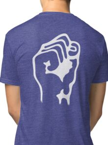 Power to the People, Grip, Fist, Punch, Fight, Strength, Power, Grasp, tough, Karate, Martial Arts, MMA, WHITE Tri-blend T-Shirt