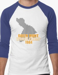 Duck Hunt Gaming Quote Men's Baseball ¾ T-Shirt