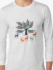 Colorful deer Long Sleeve T-Shirt