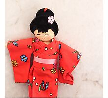 Chinese doll Photographic Print
