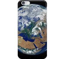 Fully lit Earth centered on Europe. iPhone Case/Skin