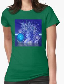Blue Crystal Womens Fitted T-Shirt