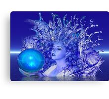 Blue Crystal Canvas Print