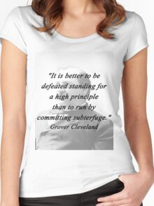High Principle - Grover Cleveland Women's Fitted Scoop T-Shirt
