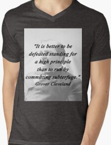 High Principle - Grover Cleveland Mens V-Neck T-Shirt