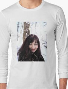 Angel in the snow  Long Sleeve T-Shirt