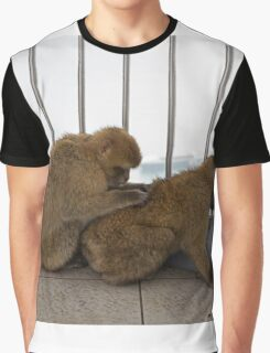 Barbary macaques in Gibraltar Graphic T-Shirt