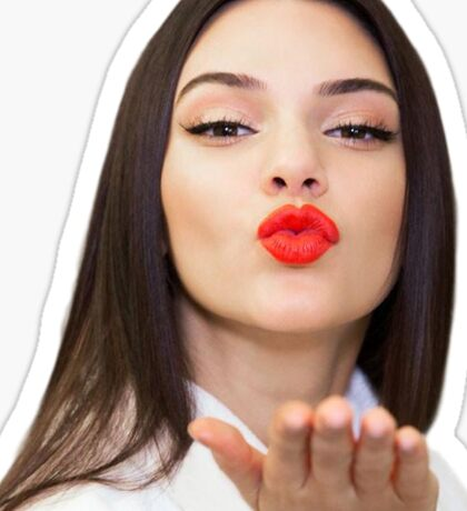 Kendall Kisses Sticker