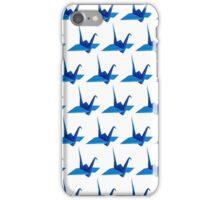 crane origami pattern iPhone Case/Skin