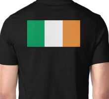 IRISH FLAG, FLAG OF IRELAND, EIRE, PURE & SIMPLE, on BLACK Unisex T-Shirt