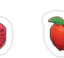 Pixel Red fruits sticker set Sticker